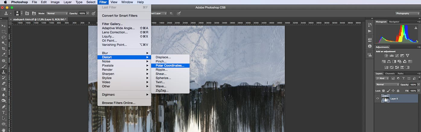 wereldbol van panorama foto maken in photoshop